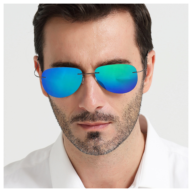 The New Dazzle Colour Polarizing Sunglasses Glasses Big Box Frameless Sunglasses Driving Glasses Frog Mirror Driving frog mirror pc alloy full rim casual unisex classical sunglasses glasses coffee