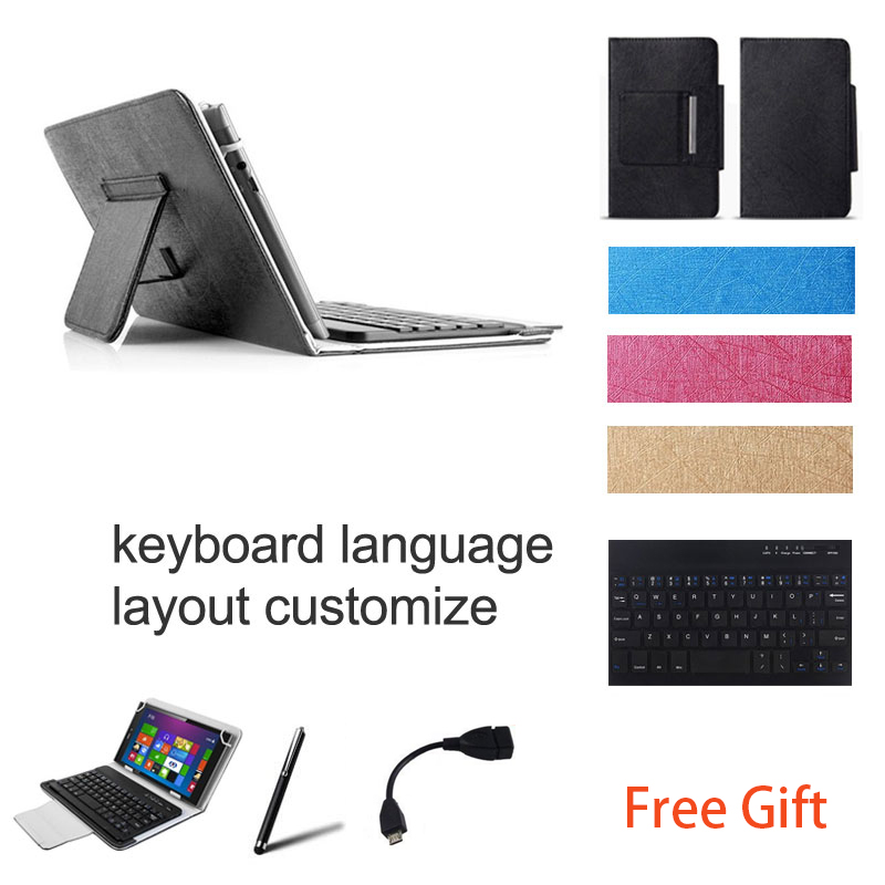 10.1 inch UNIVERSAL Wireless Bluetooth Keyboard Case for HP Pro Tablet 10 Keyboard Language Layout Customize universal 61 key bluetooth keyboard w pu leather case for 7 8 tablet pc black