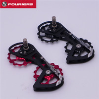 FOURIERS DX007 Alloy OSPW System For SHIMANO 105 5800 Red Black Oversized Pulley Wheel Ceramic Bearing