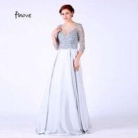 Three Quarter Sleeve Graduation Dress 2016 Formal Gowns Beaded Sweet 16 Dresses Mezuniyet Elbiseleri Vestido De