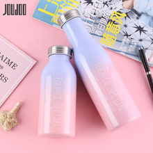 JOUDOO Candy Color Thermos Stainless Steel Leakproof Outdoor Portable Vacuum Flasks Thermoses Lovers Thermal Bottle 35