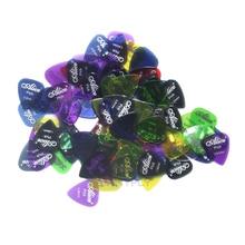 Original Alice AP-50H 50Pcs/sSet Clear Transparent Colorful Guitar Picks Assorted Thickness Colors