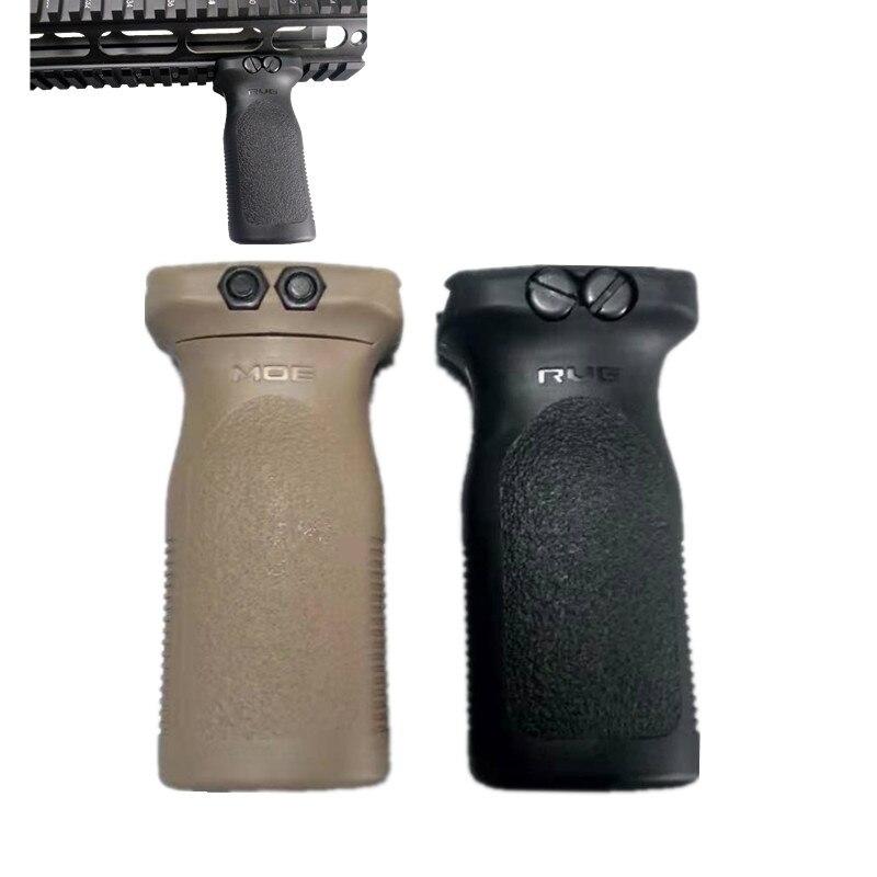 Airsoft tático estilo rvg frente vertical grip rifle para arma preto fore para foregrip picatinny frente ferroviário