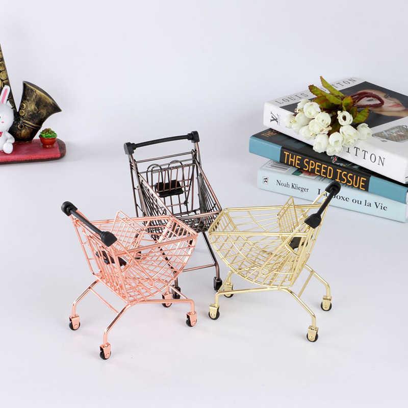 Mini carrito de comida de hierro, carrito de patatas fritas, cesta de aperitivos, estante de decoración, carrito Artificial para restaurante, bandeja de herramientas de cocina