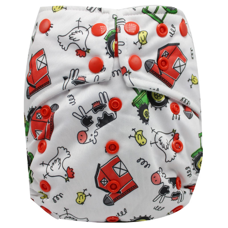Newest Pattern Cloth Baby Nappies Reusable Washable  Cloth Baby Diapers