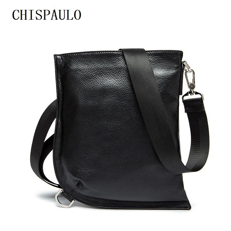 CHISPAULO Real Genuine leather men bag Oil Wax man bags men's messenger bag leisure men's handbag Shoulder Bags Brand New T728