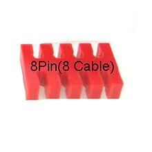 8pin паз красный акриловый кабель расчески для кабелей 18AWG или 16AWG-8 кабель