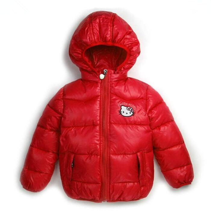 New Baby Girls Hello KItty Jacket Kids Winter Cotton Keep ...