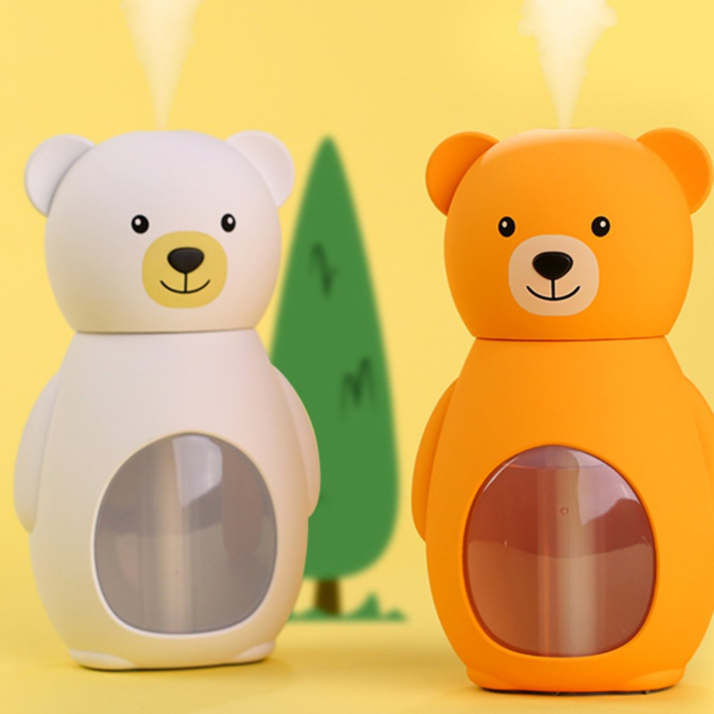 NEW Bear Ultrasonic Humidifier Lovely Bear Ultrasonic Humidifier Mini Home Desktop Air Purifier