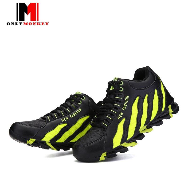 ФОТО ONLYMONKEY New Designer Spring Autumn Men Fashion Casual Shoes Men Colorful Blade Shoes Men Fashion Durable Walking Shoes