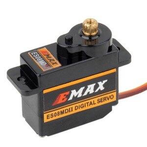 Image 2 - 4 шт. EMAX ES08MDII ES08MD II цифровой сервопривод 12 г/2,4 кг/высокоскоростная мини металлическая шестерня