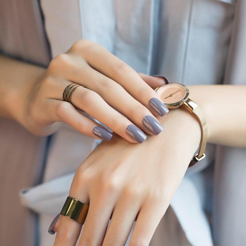 Très Nouveau Mode Beauté Mat Vernis À Ongles Chocolat Couleur Nude  LC72
