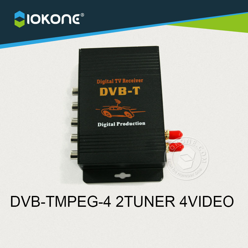 New Arrival !!! Car DVB-TMPEG-4 2 dual TUNNER digital TV receiver box set top with high speed car special chip,support 250KM/H new car dvb t2 digital tv box dual tuner mpeg2 and mpeg4 avc h 264