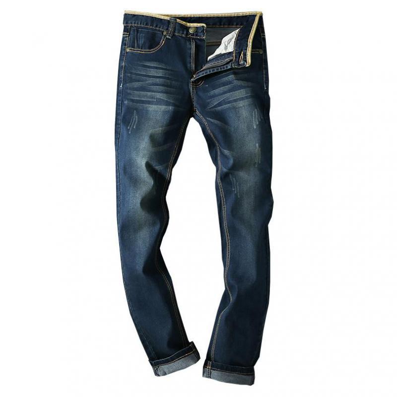 ZEESHANT Jeans Homme Mens Full Length Retro Jeans Men size 42 Casual Straight Fitness Jeans Designer Plus Big Size 42 44 46 48 2017 retro mens jeans full length pants men casual straight fitness jeans trousers male designer loose plus big size 42 44 46 48