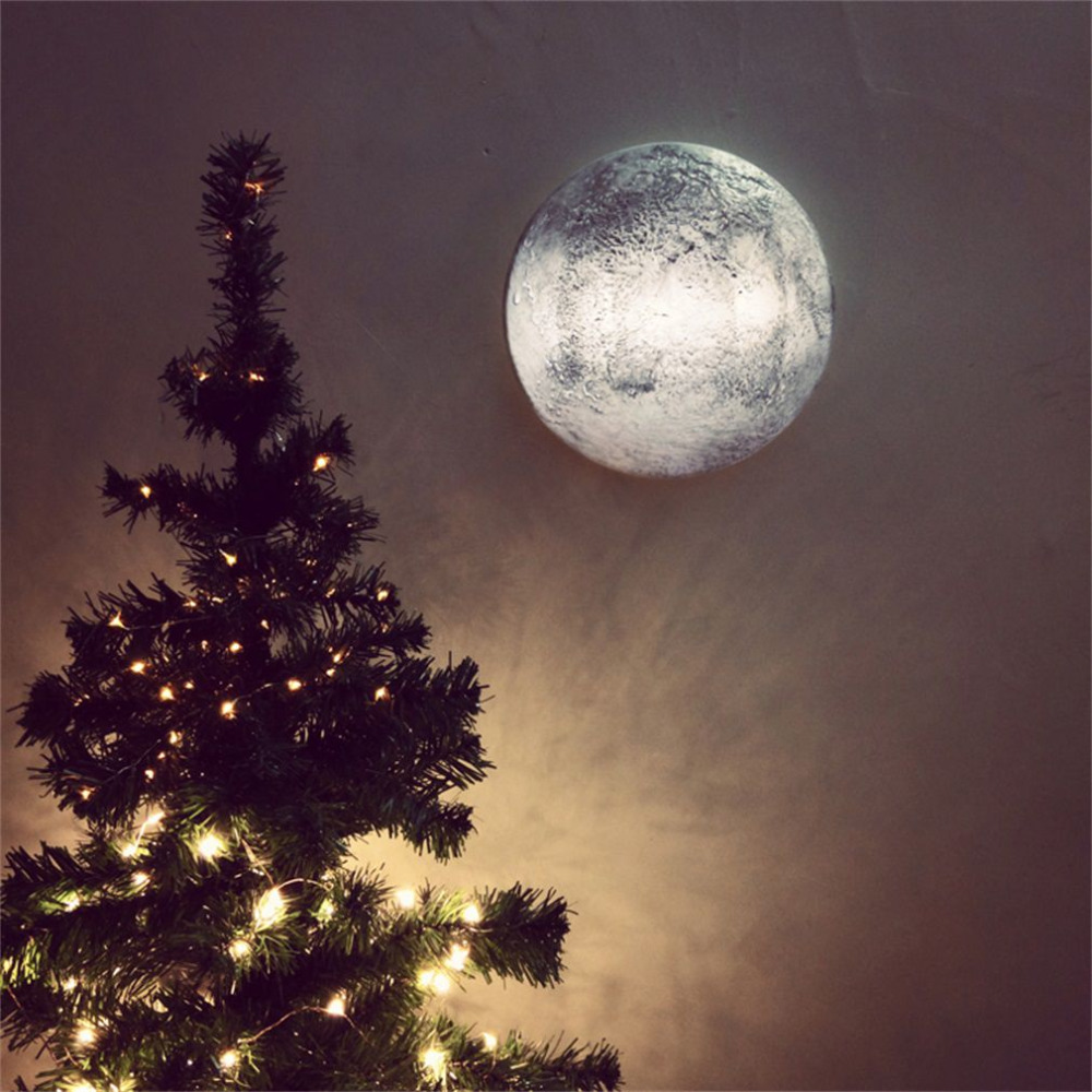 Relaxing Simulation Moon Wall Lamp with Remote Control ...