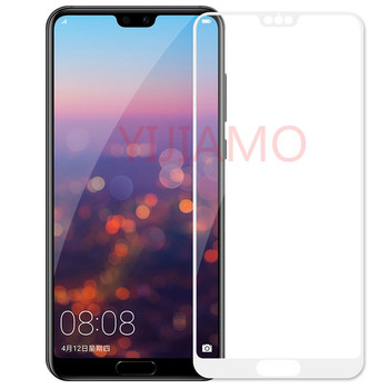 For Huawei P20 Lite Tempered Glass P20 Pro 9h 3D Full Cover Screen Protector Armor Film For Huawei P20 Pro P30 Lite white glass image