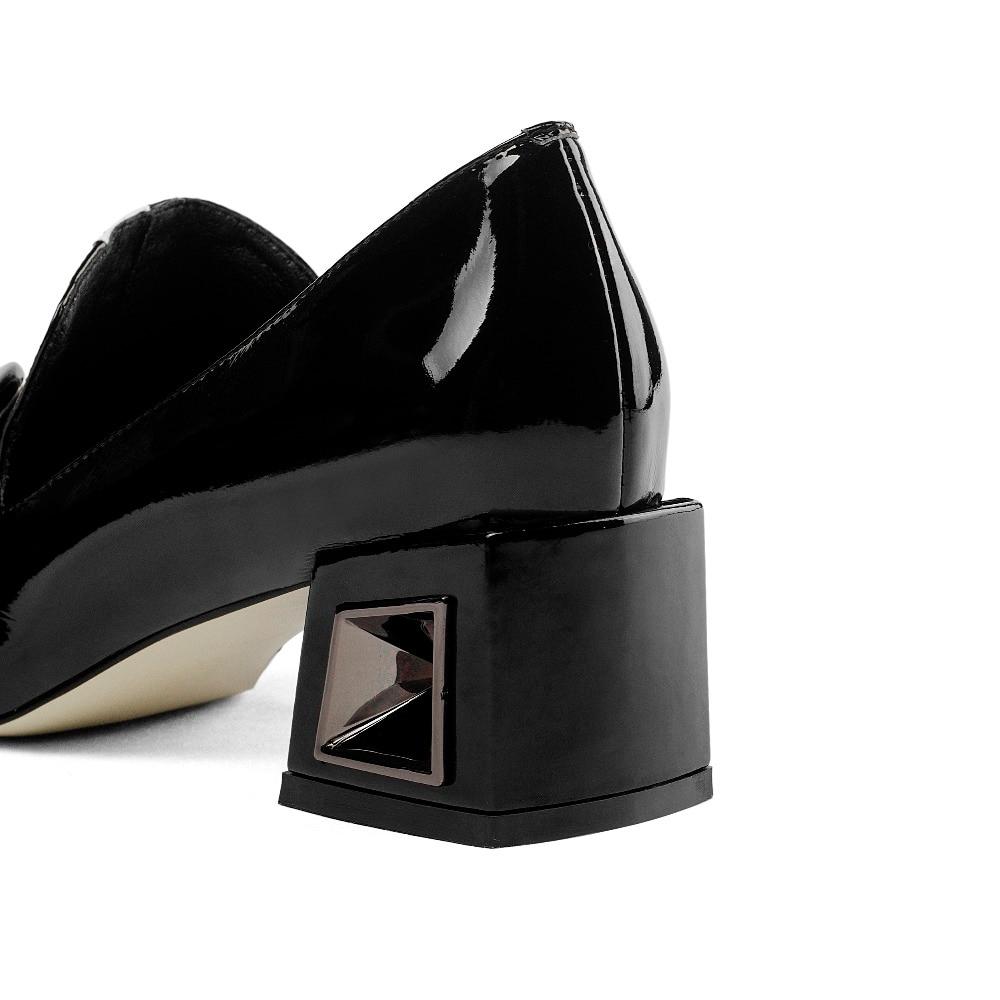 2019 superstar grote size slip op gemengde kleuren office lady hoge hakken vrouwen pompen vierkante neus elegante beknopte herfst schoenen l12-in Damespumps van Schoenen op  Groep 3