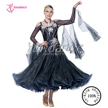 2016 Deep Blue Waltz Modern Standard Dance Dress B-14126
