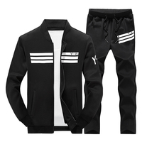 Men's Tracksuit Set Autumn Spring Track Suit Men Stand Collar Sportswear Hip Hop Casual Sets Fitness Sportsuit Clothing Male