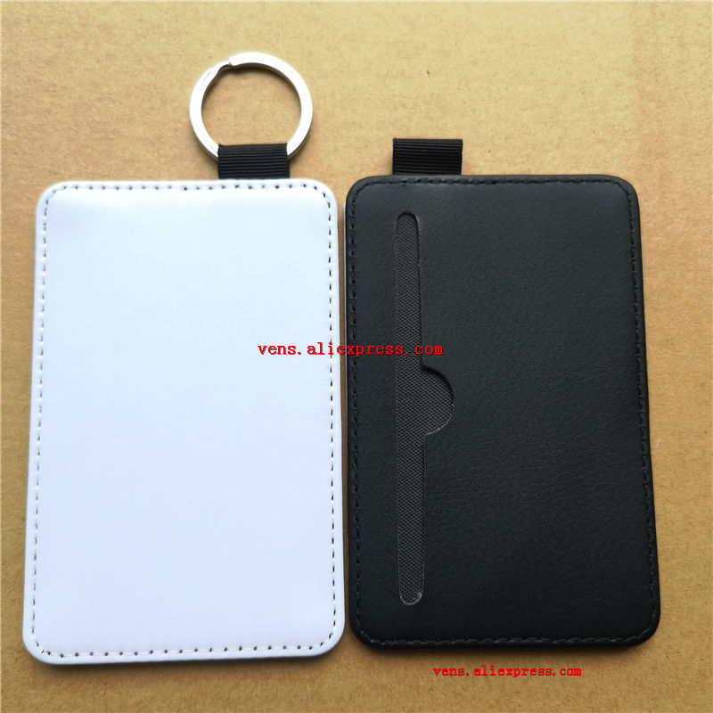 sublimation leather blank keychains bus bank card cover key ring hot transfer printing consumables 11cm 7cm