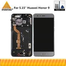 Сенсорный ЖК экран с рамкой, для Huawei Honor 9, axisмеждународная версия, экран 5,15 дюйма, с дигитайзером на сенсорной панели, для Huawei Honor 9, 1, 2, 2, 5, 4, 4, 4, 4, 4, 4, 5