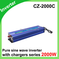 Factory sell 2000W Pure Sine Wave Inverter with Built in Charger inverter 10A