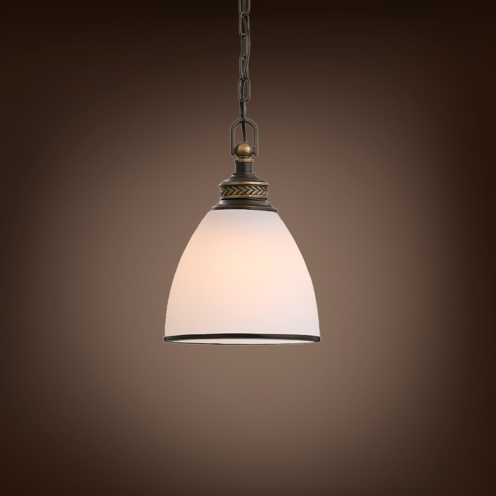 Здесь продается  New Modern Glass Pendant Lamp american style Copper Iron chain droplight  Свет и освещение