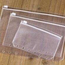 A5 A6 A7 ПВХ прозрачный файл мелких вещей хранитель для 6 отверстий вкладыш спираль Биндер блокнот планировщик план Filofax
