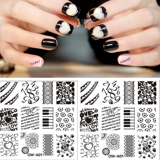 1pcs Nail Art Stamp Template Lip Print Love Design Number Pretty ...