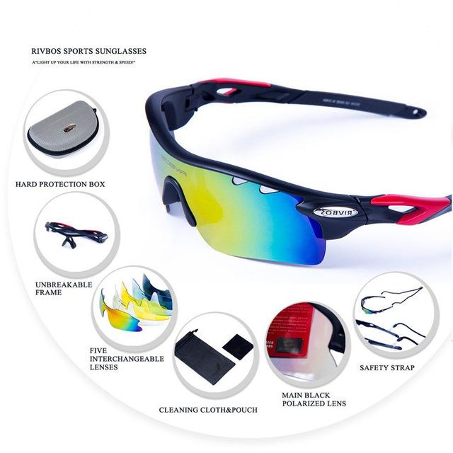 O ENVIO GRATUITO de óculos de Sol dos homens Polarizados Óculos 5 Lente Profissional Alpinismo Ao Ar Livre Esportes Eyewear