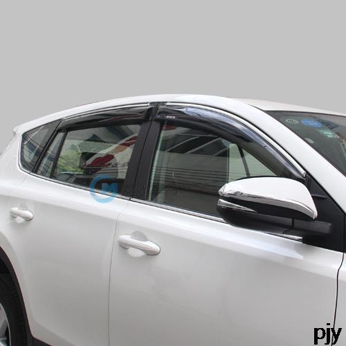 Coche protector de la lluvia lluvia ceja especial modificado 4 unids kit para Toyota Rav4 2014 2015 2016 Rav4 Accesorios