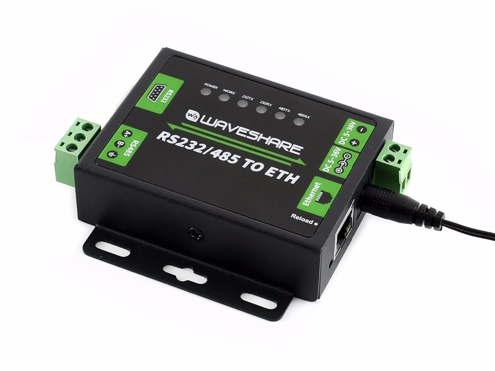 Industrial RS232/RS485 To Ethernet Converter, Dual Serial Ports, Easy-to-use, High-speed, Low-power, High-stability, Upgradable