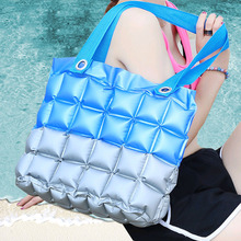 REAL PHOTO 2015 new arrival High quality fashion Color matching jelly bags candy color bags waterproof beach bag