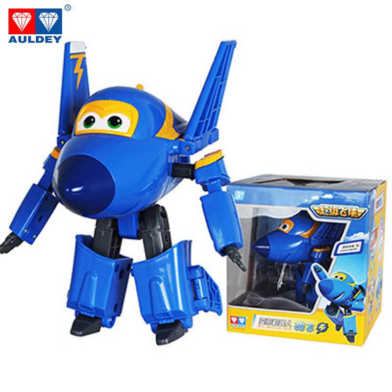 Большой! 15 см ABS Супер Крылья деформации самолет робот фигурки героев Супер крыло Трансформации Игрушки для детей подарок Brinquedos