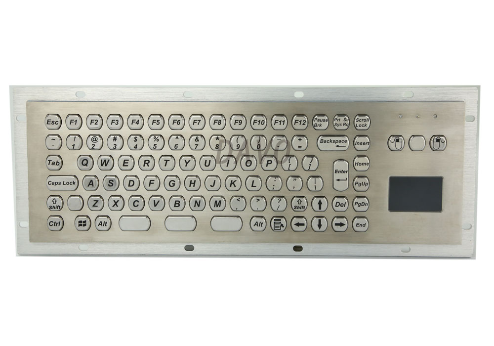Metal Kiosk Keyboard with Touchpad industrial touchpad military keyboards waterproof industrial keyboards