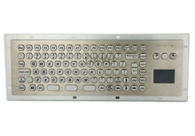 цена на Metal Kiosk Keyboard with Touchpad industrial touchpad military keyboards waterproof industrial keyboards