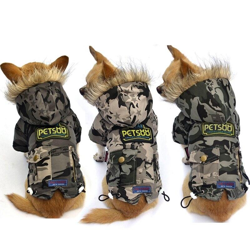 Armée Coton Rembourré Camouflage Vêtements Pet Veste Chien OiXuwPkZT