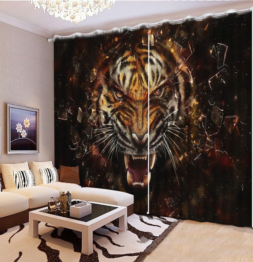 kids curtains blackout Animal avatar bedroom blackout curtains modern curtains for living room decoration