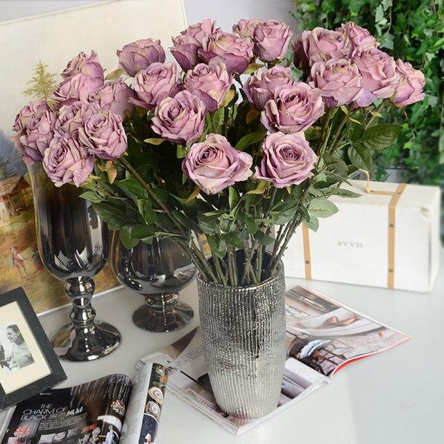 11 Teile Los Vintage Style Kunstliche Rose Schatten Seide Hochzeit