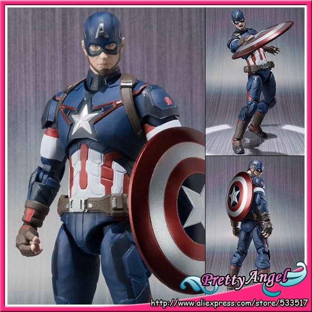 PrettyAngel - Genuine Bandai S.H.Figuarts Marvel Avengers Age of Ultron Captain America <font><b>Action</b></font> <font><b>Figure</b></font>