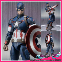 Free Shipping USA Animation Original Bandai S H Figuart Marvel Avengers Age Of Ultron Captain America