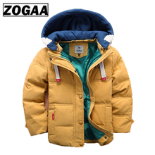 Children Thick Winter Jackets for Girls Boys Clothing 4T-12T Cute Warm Coats Overalls Hooded Baby Kids Outerwear
