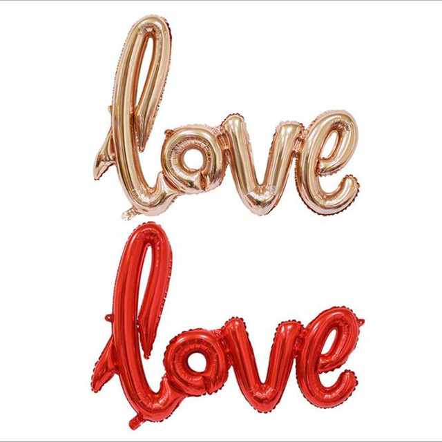 Letter Balloons LOVE Siamesed Foil Balloons Wedding Decoration Ballons Romantic Valentine's Day Love Letter Balls Party Supplies