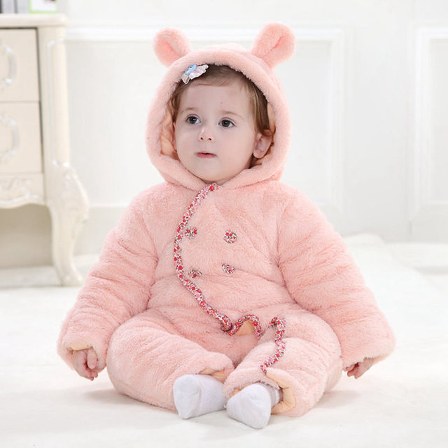 Cute Rabbit Winter Animal esie Pajamas Baby Cotton