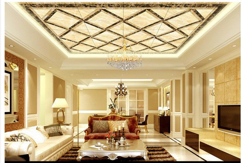 Customized 3d wallpaper 3d ceiling wallpaper murals living room bedroom ceiling lobby zenith marble mosaic mural home decoration mural wallpaper 3d home decoration cherry trees 3d wallpaper living room ceiling non woven wallpaper ceiling