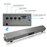 Portable Bluetooth Speaker 3D Stereo Soundbar HIFI Subwoof Wireless Speaker Support TF FM Radio AUX For