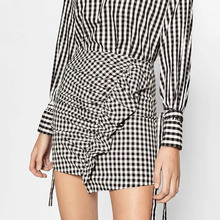 Black and white plaid mini skirt online shopping-the world largest ...