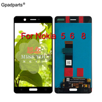 100% Tested ORiginal For Nokia 5 6 8 LCD Display Touch Screen Digitizer Assembly