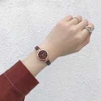 Elegancka sukienka damska zegarki na rękę małe kobiety modne zegarki 2019 luksusowe codzienne z kokardą-Knot Case kobieta skóra quartz Clock