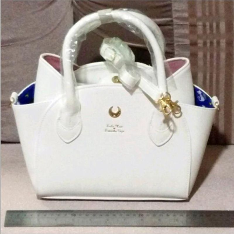 ФОТО autumn and winter black/white sailor moon luna/artemis hand bag samantha vega handbag cat ear shoulder bag messenger bag